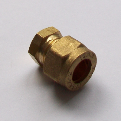 Brass Compression 10mm Microbore Stop End Cap - 24371000